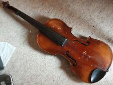 """nice old Violin  """"Concert Violin Stradiuari"""" branding"""