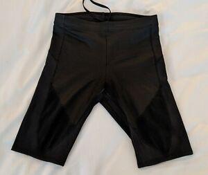 CW-X Men's Stabilyx Ventilator Running Compression Shorts Black Small
