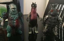 Kaiju Monster Bandai Ultraman Lot of 3 figures. Made in Japan. Vintage and Rare!