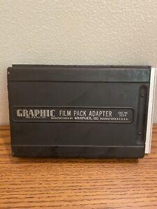 EX! Graphic 4x5 Film Pack Adapter Holder 1234 Graflex Speed Crown Pacemaker