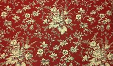 "GOLDING KINGSPORT TOMATO RED FLORAL TOILE MULTIUSE FABRIC BY THE YARD 54""W"