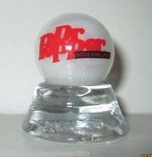 DR PEPPER SODA LOGO ON COLLECTOR MARBLE