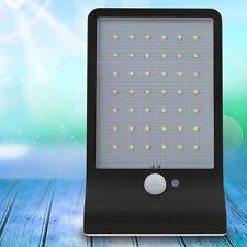 42-LED Solar Power Motion Sensor Security Light Outdoor Garden Wall Lamp Black