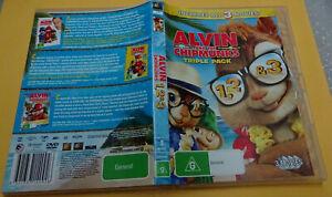 ALVIN AND THE CHIPMUNKS 1,2 & 3-TRIPLE PACK ( 3-DISC SET,DVD, G) (165208 V)