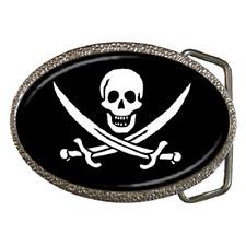 Pirata calavera y espadas cruzadas Hebilla de cinturón-artículo Excelente