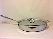 """All Clad 11"""" Skillet Frying Pan Stainless Steel Induction Helper Handle"""