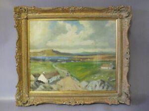 James Humbert Craig Oil On Board Irish Landscape