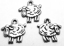 3 Pewter Sheep Charms - 0804