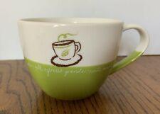 Starbucks 13 oz 2007 White And Green Mug Cup 2007 Grande Venti Tall Coffee Sizes