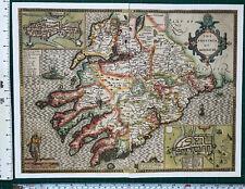 "Speed 1600/'s 15/"" x 11 Reprint Old Antique Tudor map Leinster Ireland Inc Dublin"