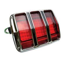 65 - 66 Mustang LED Tail Lamp / Light - Red Lens w/ Bezel