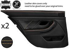 Beige Stitch Arrière 2X complet porte carte en cuir couvre Fits BMW 5 Series E39 95-03