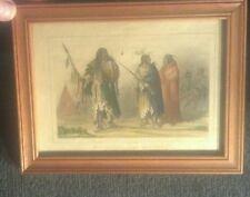 Rare Original 1890s  -A.F. Lemaitre Assiniboine Chief. Hand painted