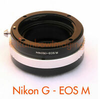 Nikon G AFS lens to CANON EOS-M Mirrorless Camera M M2 M3 M10 Adapter Aperture