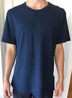 Lululemon Men's Size XL 5 Year Basic T Blue HTNN SS Metal NWT Core Crew