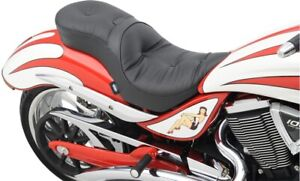 Drag Low Profile Touring Pillow 2-Up Seat Backrest Option Victory Jackpot 06-15
