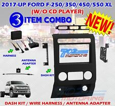 2017 FORD F250/350/450/550 XL TRUCK DOUBLE DIN ISO RADIO DASH BEZEL 95-5850B A