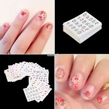 New 50 Sheets Mixed Flower Butterfly Design Nail Art Water Transfer Stickers DIY