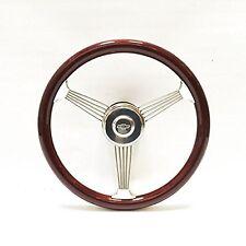 "15"" Mahogany Banjo Steering Wheel Vintage 1948 - 1959 Chevy Pick Up Truck Kit"""