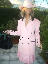 Luxe Escada Couture Rock très noble Skirt rose pink 40/42 NP 980 Country Maison de campagne