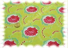Pia Popeline Baumwolle Blumen apfelgrün 50 cm Webware Stenzo Blumenstoff Stoff
