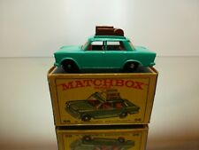 MATCHBOX LESNEY 56 FIAT 1500 + ROOF RACK - GREEN - VERY GOOD IN BOX