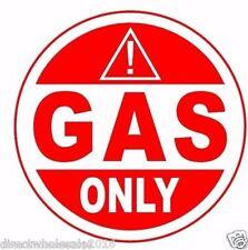 "Gas Only 4"" Vinyl Decal Sticker Warning Warning Gasoline Fuel Gas"
