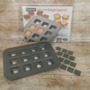 ChicagoMetallic Lift & Serve Single Squares Baking Mould Quiche Used VGC