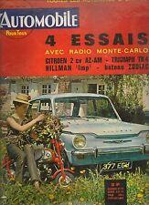 L'AUTOMOBILE 206 1963 DOSSIER 24H MANS HILLMAN IMP CITROEN 2CV AZAM TRIUMPH TR4