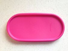 Tupperware Modular Mates Oval seal in Pink Punch Replacement Lid Brand New