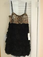 c526d2911be Sue Wong N1301 Cocktail Prom Evening Rosette Short Dress Black nude 10