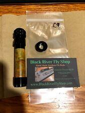 Fly Rod Reel Seat Black Alum Hardware Down locking, maple burl wood insert C9