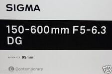 NEW Sigma 150-600mm F5-6.3 DG OS HSM Contempory Lens (150-600 mm) Nikon*Offer