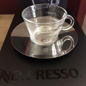 Nespresso VIEW Collection Cappuccino Cups x 2 - BNIB