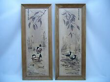 2-James Bunnell Framed Serigraph Econolite Pictures paintings Ducks & Birds MCM