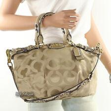 🌸🌸New Coach Madison Op Art Sophia Shoulder Bag Hand Bag 18650 Khaki Natural
