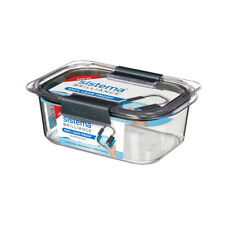 Sistema Brilliance Container, 920ml Leakproof Storage Box Microwaveable Vents