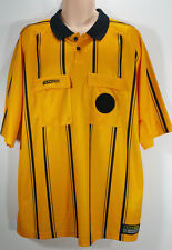 TEAM REF Futbol Soccer Referee Jersey Shirt Yellow Black Stripes Adult Size XXL