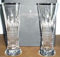 Waterford Crystal Lismore Diamond Pilsner Beer Pair Glasses 165030 New In Box