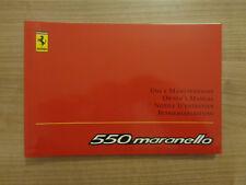 Ferrari 550 Maranello Owners Handbook/Manual