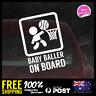 Baby Baller On Board 156x110mm Funny Baby Boy Girl Dadlife Mumlife Basket Ball