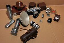 Canon E-P Rangefinder Camera Model II F w/50mm F/1.8, 100mm, flash w accessories