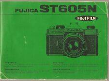 Fujica ST605N Camera / Owners / Instructions Manual - Archive Photography