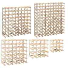 vidaXL Wine Rack Solid Pinewood Display Holder Storage Cabinet Multi Sizes