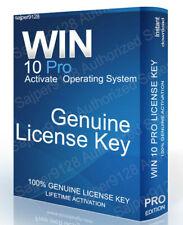 WIN 10 PRO GENUINE LIFETIME ACTIVATION LICENSE KEY CODE 32/64-BIT INSTANT