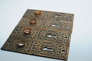 Vintage Fancy Door Handle Plates (4)