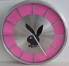 PLAYBOY STAINLESS STEEL PINK WALL CLOCK