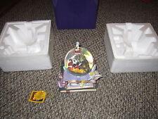 Disney 75th anniversary snowglobe mickey dumbo tinkerbell ariel  box insert