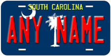 South Carolina Flag Aluminum Any Name Personalized Novelty Car License Plate