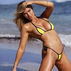 Micro Bikini Swimwear Womens Sexy Set Bra Top Mini G-string Thong Swimsuit